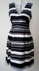 Платье Лён Черно Белое Розовое Красное TWEEDS, AnnTaylor, Calvin Klein M, L