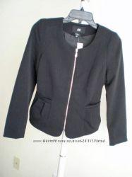 Oчень красивый пиджак черный на замке H&M США рр XS, S, M