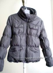 Красивая серая куртка пуховик Coffe SHOP USA в стиле Moncler, p S-M