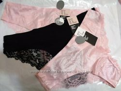 Шикарное белье трусики и бюстик H&M XS S M L - розовый перламутр  и черный