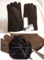 MARK NEW YORK - Перчатки из США- натуральный мех - овчина - Супер Качество