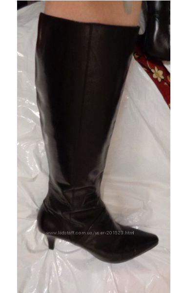 BANDOLINO женские фирменные черные кожаные сапоги на каблуке из США