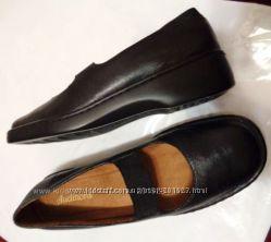 AUDITIONS черные кожаные туфли куплены в магазине Ecco - Clarks в США р 38
