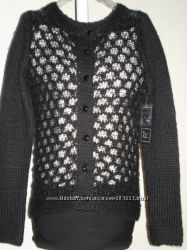 MERSEL MADISON Красивые теплые шерстяные вязаные кофты США  Белая и Чёрная
