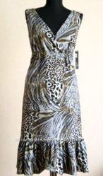 Дорогое Кутюрное стильное леопардовое тигровое платье из США -  р S, M, L