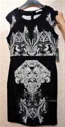 Платье футляр черные белые цветы NEW YORK CO - оригинал из США p S, М