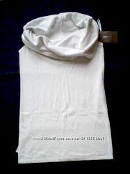 ZARA Стильная натуральная белая блузка топ с широким хомутом на плечи р S M