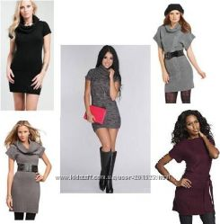 Платья-свитера-туники США - стильные модели - р S, M - Большой выбор