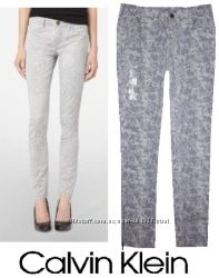 CALVIN KLEIN  - фирменные skinny джинсы брюки - оригинал из США - р XS S М