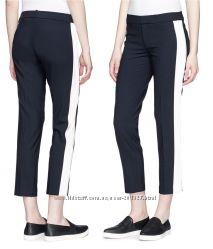 Фирменные стильные укорочённые чёрные брюки белые по бокам США H M p XS S 1fe1b053a0898