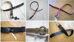 Фирменные кожаные красивые плетёные стильные ремни и пояса , США , Italy