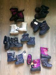 Зимние осенние резиновые термо ботинки США Девочкам, Мальчикам от 1 до 7лет