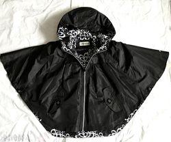LONDON FOG стильный дорогой Чёрный плащ куртка летучая мышь XS, S, М, L, XL
