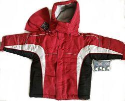 Комплект 5 в 1 Термо Куртка Зимняя/ 2х сторонняя деми куртка/ шапка варежки