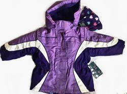 Комплект 5 в 1 - Термо Куртка Зимняя / 2х сторонняя куртка / шапка варежки