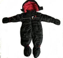 Зимний сдельный термо комбинезон человечек Us Polo Assn на мальчика 12 мес