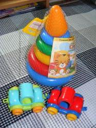 Развивающая игрушка Пирамидка маленькая 1Kid Cars