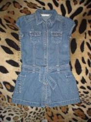 Коттоновый сарафанчик- платье GORDGE на девочку 5-6 лет