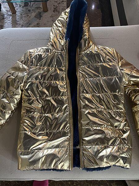 Двухсторонняя куртка guess. 12-15 лет оригинал