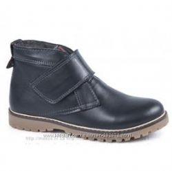 Деми ботинки MAXUS кожа черный