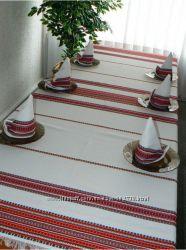 Скатертини, серветки, доріжки, рушники в українському стилі