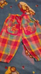 Продам наши штанишки -капри для девочки, размер 92, бу