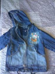 Джинсовая курточка-ветровка, бу
