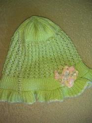 Продам летнюю шапочку для девочки, бу