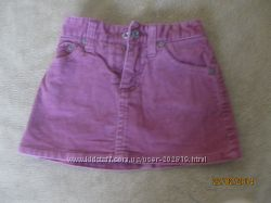 Модная вельветовая мини-юбка с трикотажными шортами