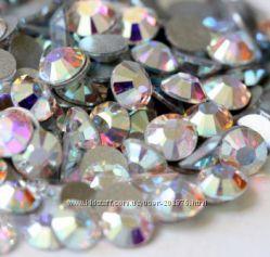 Стразы набор для декора ногтей Cristal и Cristal АВ, размер на выбор