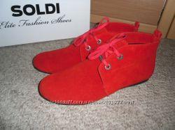 Деми ботиночки замша 38р-25 см в наличии Солди