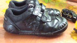 Удобные ботиночки Clarks 29р-стелька 18, 5см кожа