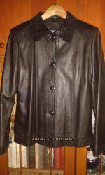 Новая кожаная курточка 46 р стильная