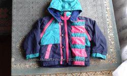 Яркая курточка утепленная трансформер на 1-2 года
