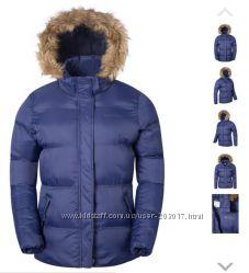 Акция Куртка теплая зимняя женская Mountain Warehouse синий фиолетовый цвет