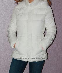 Куртка GAP Faux fur puffer jacket оригинал белая ГЕП еврозима демисез.