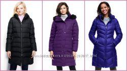 Оригинал Пуховик Lands End пальто Womens Chalet Down куртка в наличии