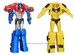 Трансформер 30 см Robots In Disguise Titan Changers Optimus Prime Bumblebee
