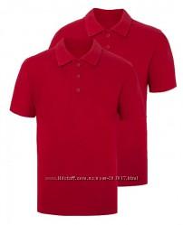 Футболка поло красные George размер 7-8 для школы оригинал