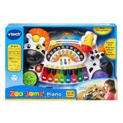 VTech Zoo Jamz Piano. Шикарное пианино для маленьких с микрофоном, скретч