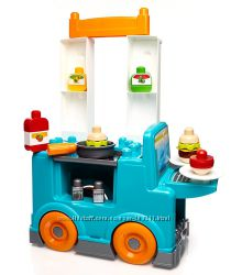 Mega Bloks First Builders Food Truck Kitchen Set. Большая кухня-грузовик.