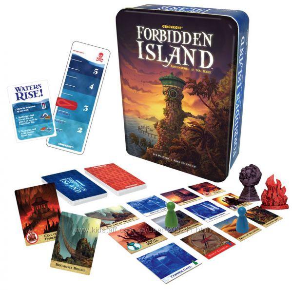 Настольная семейная кооперативная игра Forbidden Island Запретный остров.