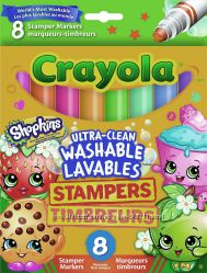 Crayola Shopkins Stamper Washable Markers. Маркеры штампики Крайола Шопкинс