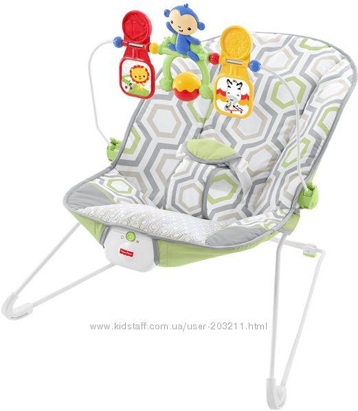 Fisher-Price Babys Bouncer, шезлонг, кресло-качалка Фишер Прайс