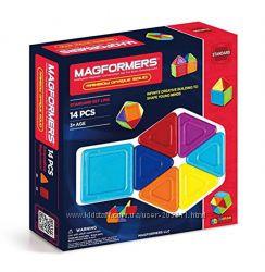 Магнитный конструктор Магформерс 14 предмет Magformers Rainbow Opaque Solid