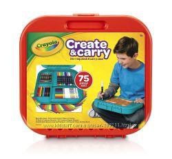 Набор Крайола 75 предметов в удобном кейсе Crayola Create &acuten Carry Case