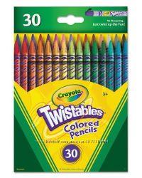 Выкручивающиеся карандаши Crayola цветные 30 штук Twistables