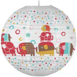 Абажур для детской Парад Слоников Zutano Elephants Paper Lantern