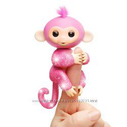 Интерактивная обезьянка Fingerlings Glitter Monkey WowWee Оригинал