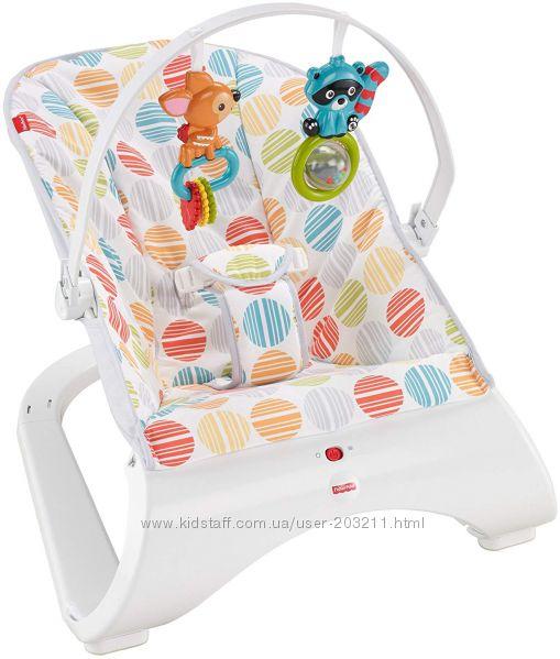 Детский шезлонг Fisher-Price Comfort Curve Bouncer от рождения до 9 кг